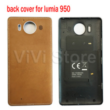Luxury Leather Cover for Microsoft lumia 950 Qi Wireless Charging Back Cover Case for Nokia lumia 950 Capa with side button