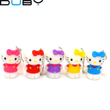 Miniseas USB 2.0 New With Free H2textw Software Colorful Cat Sharped 8G/16G/32G Pen Drive Pendrive U Disk Usb Flash Drive(China)