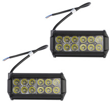 GERUITE Brand 2PCS 36W Spot Beam LED Work Light Bar Offroad 4x4 4WD LED Fog Lamp Truck Motorcycle Boat Van Tractor Lamp RZR(China)
