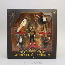 Super Quality Michael Jackson PVC Action Figures Model Toys with Retail Box 5 Pcs/Set 11cm