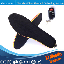 Best gift electronic heated insoles with wireless winter warm insole woman man boots insoles size EUR 35-40(China)