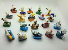 50pcs/lot cartoon animal model dolls, sporting sheeps 5CM,kids toys, birthday presents,home decoration,hot brinquedos(China)