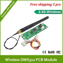 DHL Fast  Free Shipping  2.4G led stage light led move head wireless dmx pcb moudle for wireless system