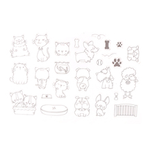 CCINEE 1PCS Cartoon Clear Stamp Cats And Dogs DIY Silicone Seals Scrapbooking/Card Making/Photo Album Decoration Supplies