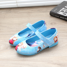 Kids Children girl's Snow queen Elsa Anna girls princess Glitter shoes single Sandals dance shoes Roman shoes without box(China)