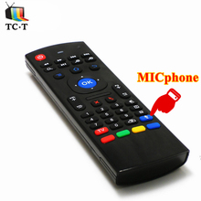 50pcs DHL Free English Optional MX3 2.4GHz Air Mouse Wireless Keyboard Remote Control with MICphone for Android TV BOX Media