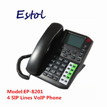4 SIP lines Voip phone sip ip telephone,internet phone for both business and residential users(China)