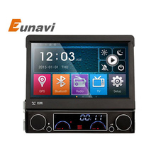 "Single 1 Din 7"" Universal Touch screen Car DVD Player With GPS Navi Autoradio Stereo Car Audio  TV Bluetooth"