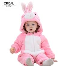 CROAL CHERIE Panda Baby Girls Clothes Animal Newborn Baby Rompers Costume Winter Fleece Clothes Boys Warm Snowsuit Jumpsuit