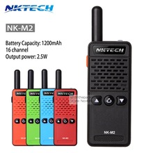 NKTECH NK-M2 Ham Radio Super Small Portable Professional FM Transceiver Walkie Talkie 16 Channel 400-520MHZ Radio Comunicador