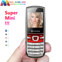 Super Mini Mobile Phone!Russian Keyboard phone!Metal Phone!Original FORME T3 Unlocked Pocket Cell Phone Free Shipping In Stock!(China)