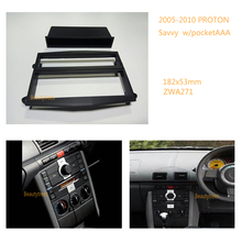 2 Din Car Radio fascia Facia Panel Adapte for PROTON Savvy 2005-2010 w/pocket(China)