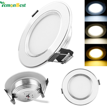 LemonBest 5pcs/lot Spot led downlight Dimmable 3W 5W 7W 9W LED Panel Down Lights for Home Recessed Ceiling three color change