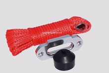 Red 6mm*15m Synthetic Winch Cable add ATV Winch Fairlead and Winch Cable Hook StopATV Winch Cable,Off Road Rope(China)