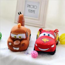1Pcs18cm Movie Cars Pixar Original Plush Toys Cars Model Stuffed Plush Toy Reborn Baby Favorite Car dolls Kid Gifts