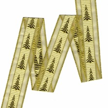 ZERZEEMOOY 40mm and 25mm 25 yards-rolls gold Christmas tree ribbon DIY lace