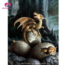 Diamond embroidery dragon diamond painting full square Pictures of rhinestones Cross-stitch embroidery kits Painting rhinestones(China)