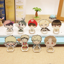 Kpop BTS Album V Suga Jungkook Jimin Jhope J-hope Jin K-POP Case Rings 360 Degree Finger Stand Holder Rings ZHK