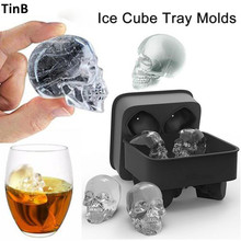 Buy 3D Skull Silicone Ice Mold Cool Whiskey Wine Cocktail Ice Cube Tray Pudding Mold Ice Maker Home Kitchen Ice Cream Mould DIY Tool for $4.49 in AliExpress store