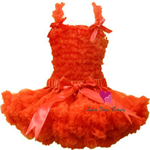 Fashion fluffy ruffle pettiskirts tutu party dress for baby and girls Petti princess tutu pettiskirts dress Free shipping(China)