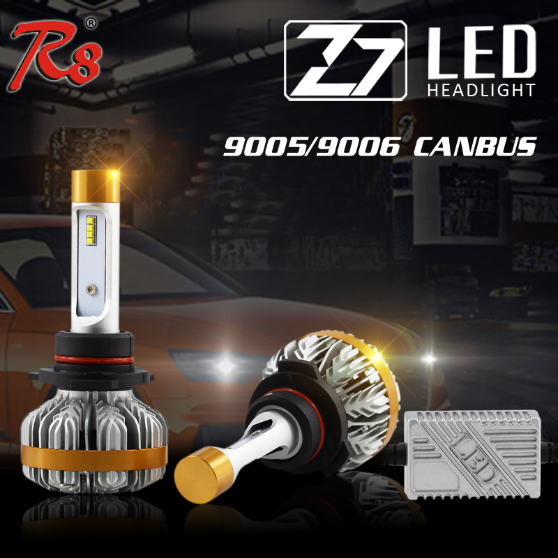 1 Set Z7 9005 HB3 9006 HB4 50W 6000LM LED Headlight Super Slim Conversion Kits LUMILED LUXEON ZES Chip Built-in Canbus Decoders<br><br>Aliexpress