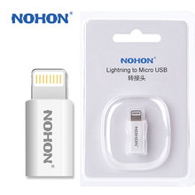 NOHON 8pin USB Adapter To Micro USB Charger For iPhone 7 6 6S Plus 5S 5C 5 iPad Mini Air iPod Quick Charge Data Sync Connector(China)