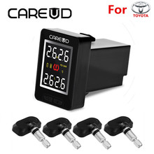 CAREUD U912 TPMS Tire Pressure Monitoring System Car Wireless Alarm Auto with 4 Sensors LCD Display Embedded Monitor for Toyota(China)