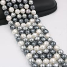 New 1015+++1pc Manufacturers sell multi color mixed natural pearl beads, straight hole 6-12mm Shell Pearl(China)