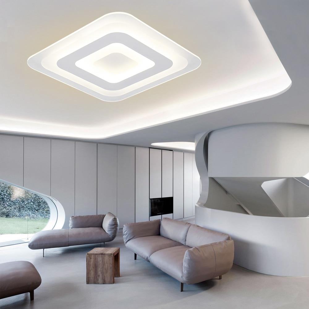 Ecolight Modern Led Ceiling Light Ceiling Lamp Wall Sconce For Living Room Home Ultra Thin Led Flush Mount 90-260V 1500Lumen<br>