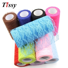 Buy 10Yard Tulle Organza Roll Lace Fabric Sheer Gauze Element Home Garden/Table Runner Decor Birthday/Wedding Party Decoration for $2.84 in AliExpress store