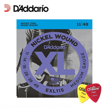 D'Addario EXL115 Medium Gauge Electric Guitar Strings, Blues/Jazz Rock Daddario guitar strings, .011-.049 (with 2pcs picks)