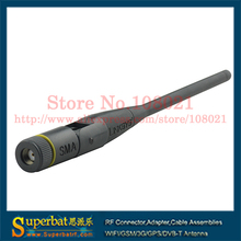 Superbat 2.4GHz 3dBi RP-SMA Male Connector Omnidirectional WiFi Rubber Antenna Booster Tilt-and-Swivel Design Aerial Black NEW