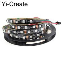5m ws2811 led strip light smd5050 RGB 30 60led/m IP20/IP67 Black/white PCB dc12v 2811 IC Dream Magic Color flexible strip light