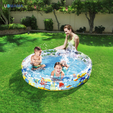 plastic PVC Cartoon pattern Inflatable round bathtub outdoor Thickening child Inflatable Ball pool baby swimming pool Play pool(China)