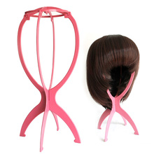 Hot Sale Portable Folding Plastic Stable Durable Wig Hair Hat Cap Holder Stand Display Tool Wig Stand(China)