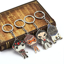 MEEHEE Cute Overwatch Figuras Cartoon Keychains Hot Games Character Key Cover Key Holder Keyring Jewelry Men Chaveiro Llaveros
