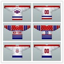 Custom XS-5XL 1933-35 York Americans 1928-30 Hockey Jersey Stitch Sewn Any Player or Number Free Shipping(China)