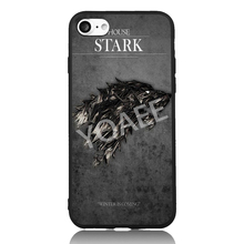 Game of House Stark Wolf Family Thrones Cool For iPhone 5s SE 6 6s 7 Plus Case TPU Phone Cases Cover Mobile Decor Gift(China)
