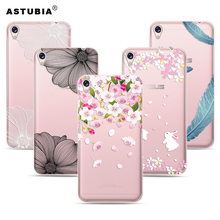 For Asus ZenFone Live ZB501KL Case Pink Flowers Rabbit Soft Silicone Case For ZenFone ZB501KL Ultra Thin Transparent Cover Gift