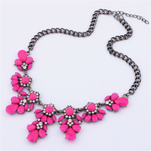 2017 Best Price 1PC Vintage Flower Crystal Bubble Bib Choker Statement Women Necklace(China)