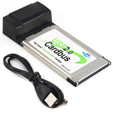 4 Port USB 2.0 HUB Cardbus PCMCIA Card Adapter 32 Bit Laptop Notebook Computer(China)