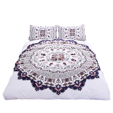 Hipster Watercolor Bedding Set Twin Full Queen King Size Duvet Cover Sets Bohemian Printed Bed Cover Usa 3 Pcs(China)