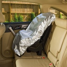 Silver Aluminium Film 108x80 cm Baby Kids Car Safety Seats Sun Shade Sunshade UV Rays Protector Cover Reflector