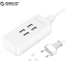 ORICO DCV-4U Recommend EU Plug 20W 4 Port USB Charger with Smart Super Charging Technology for Your Phone, Tablet and More(China)