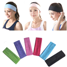 2017 New Unisex Stretch Headband Fashion Towel Fabric Exercise Sweat Head Hair Bands Stretch Headband Turban Head Wrap