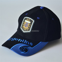 High quality football hats black blue baseball caps for men women football souvenir Adjustable Argentina soccer hats mens hats
