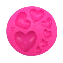 Love silicone mold chocolate fondant cake decoration tools baking utensils F0392(China)