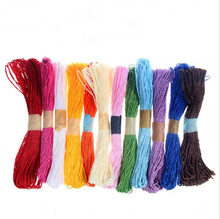 30m Decorative DIY colorful craft paper Cords Twine Twisted Rope String Cord party home decor Kindergarten hand-woven Supplies