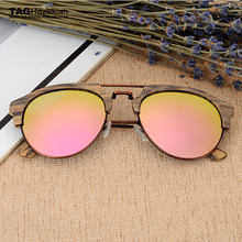 2017 TAG Hezekiah Brand designer polarized sunglasses Import plate wood grain sunglasses women men Retro driving sun glasses(China)