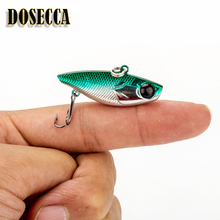 1 Piece Sale New Arrival Mini vib Fishing Lure Lead 4cm/4g Artificial Freshwater Bait palmatum hook lure perch(China)
